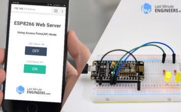 Creating Simple ESP8266 Webserver in Arduino IDE using Access Point & Station mode