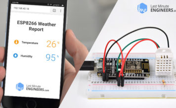 Interfacing DHT11 DHT22 AM2302 with ESP8266 NodeMCU & Displaying Values On Web Server