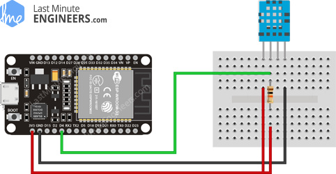 Wiring Fritzing Connecting DHT11 Temperature Humidity Sensor with ESP32
