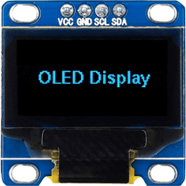 128x64 Blue I2C OLED Display