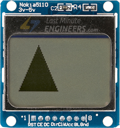 Displaying Filled Triangle On Nokia 5110 Display Module