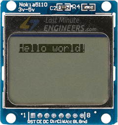 Displaying Inverted Text On Nokia 5110 Display Module