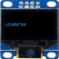 Displaying Numbers On OLED Dsiplay Module