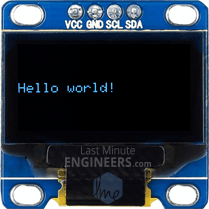 Displaying Text On OLED Dsiplay Module