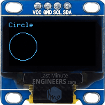 Drawing Circle On OLED Dsiplay Module