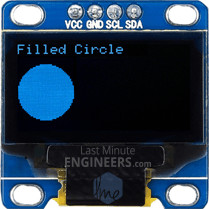 Drawing Filled Circle On OLED Dsiplay Module