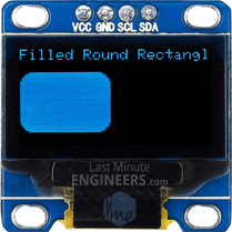 Drawing Filled Round Rectangle On OLED Dsiplay Module