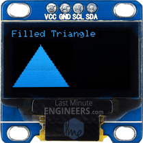 Drawing Filled Triangle On OLED Dsiplay Module