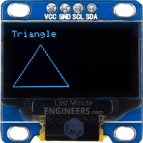 Drawing Triangle On OLED Dsiplay Module