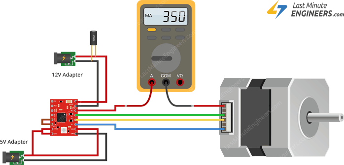 Measuring Coil Current & Setting Current Limit for A4988 with Multimeter