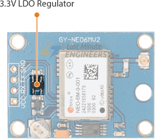 NEO-6M GPS Module - 3.3V Voltage Regulator