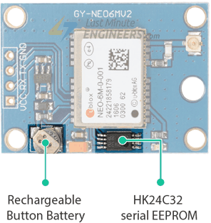 NEO-6M GPS Module - Battery and EEPROM