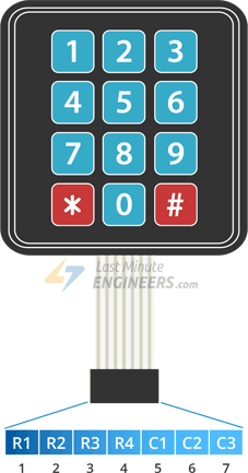 In-Depth: Interface 4x3 & 4x4 Membrane Keypad with Arduino
