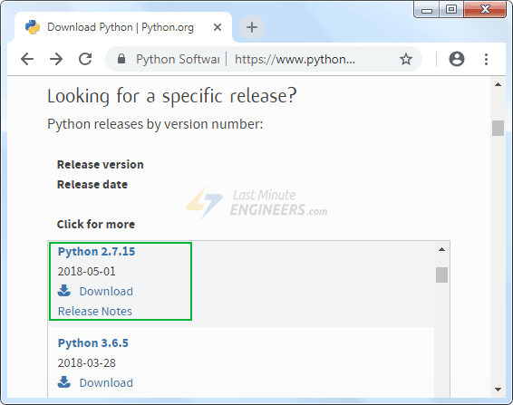Download Python 2.7.x Series