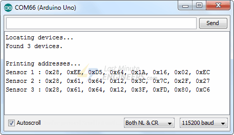 Finding One-Wire Address Of All DS18B20 On the Bus