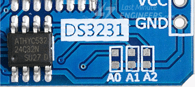 I2C Address selection jumpers on DS3231 module