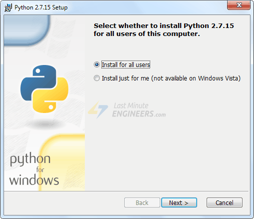 Install Python 2.7.x Series On PC