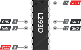 L293D Power Supply Connections