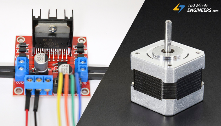 Control Stepper Motor with L298N Motor Driver & Arduino on