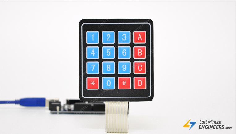 Tutorial for Interfacing 4x3 & 4x4 Membrane Keypad Interfacing with Arduino
