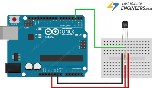 Wiring DS18B20 Temperature Sensor to Arduino