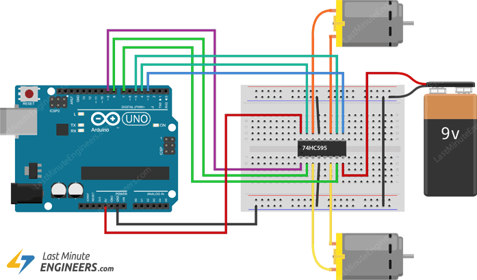 In-Depth: Control DC Motors with L293D Motor Driver IC & Arduino