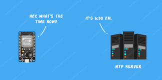 ESP32 Tutorial For Reading Time & Date From NTP Server