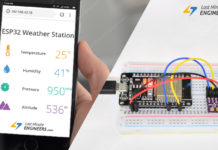 ESP32 Weather Station Tutorial For Interfacing BME280 Sensor