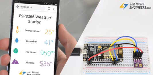 ESP8266 Weather Station Tutorial For Interfacing BME280 Sensor