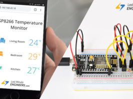 ESP8266 Web Server Tutorial for Displaying Values of Multiple DS18B20 Temperature Sensors