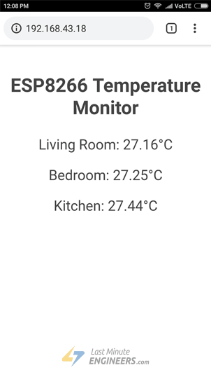 Multiple DS18B20 Readings on ESP32 Web Server - Without CSS