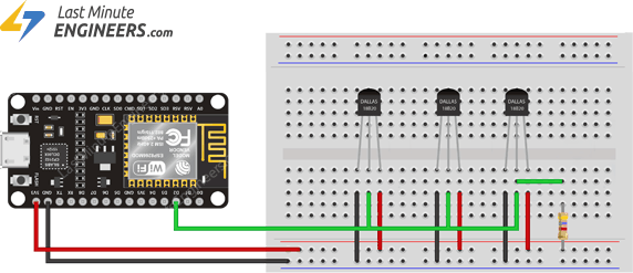Wiring Multiple DS18B20 Temperature Sensors to ESP8266