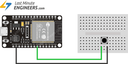 Wiring Push Buttons to ESP32 For GPIO Interrupt