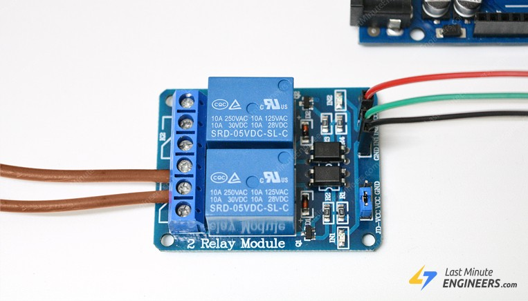 tutorial for controlling ac devices with relay module and arduino