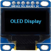 128x64 Blue SPI OLED Display
