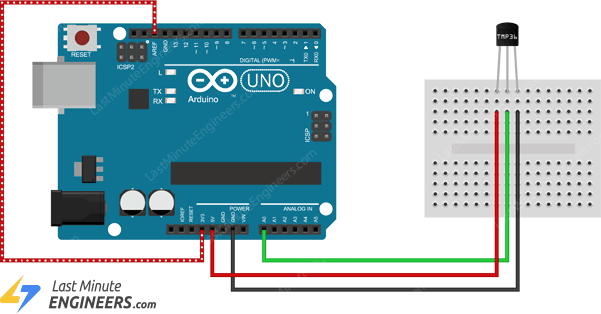 arduino wiring for improving accuracy of tmp36 sensor