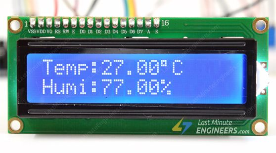 dht11 module output on lcd