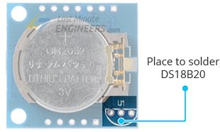 Provision for DS18B20 on DS1307 Module