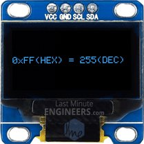 Displaying HEX, Decimal, OCT, Binary On OLED Dsiplay Module