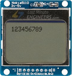 Displaying Number On Nokia 5110 Display Module