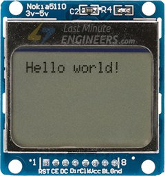 Displaying Text On Nokia 5110 Display Module