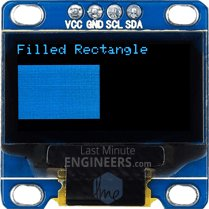 Drawing Filled Rectangle On OLED Dsiplay Module