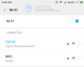 ESP32 Web Server Access Point Mode - Joining Server