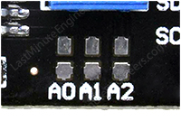 i2c address selection jumpers on i2c lcd