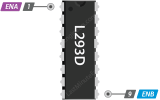L293D Speed Control Inputs