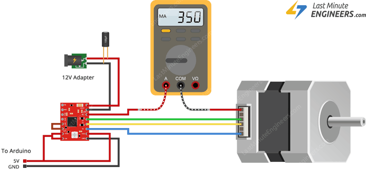 measuring coil current setting current limit for a4988 with multimeter