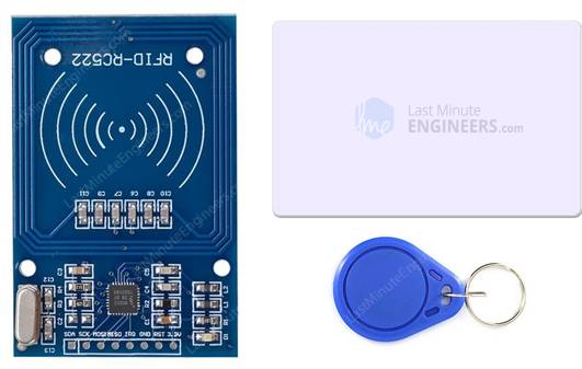 RC522 RFID Reader Writer Module with Tag Card and FOB Key Tag