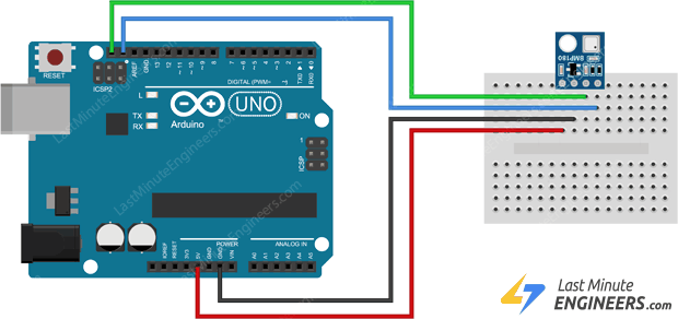 wiring bmp180 module with arduino