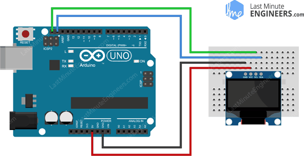 Wiring Fritzing Connecting 128x64 OLED Display Module With Arduino