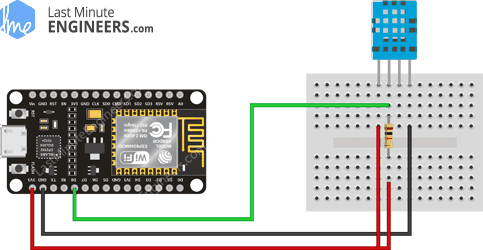 Wiring Fritzing Connecting DHT11 Temperature Humidity Sensor with ESP8266 NodeMCU